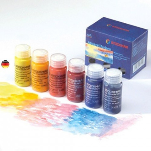 Peinture Aquarelle 6 couleurs, watercolor steiner waldorf Stockmar