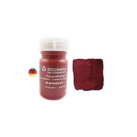 Peinture Aquarelle 50 ml rouge carmin, Stockmar