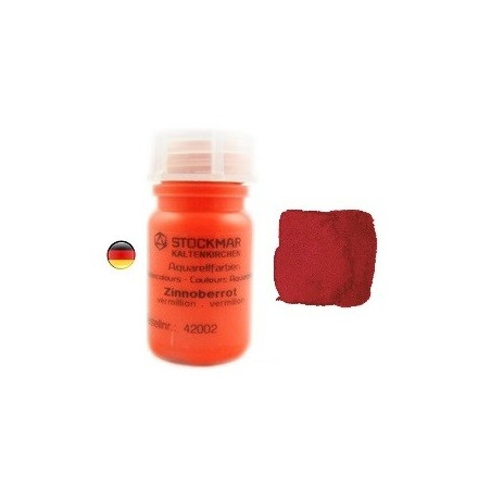 Peinture Aquarelle 50 ml vermillion, Stockmar