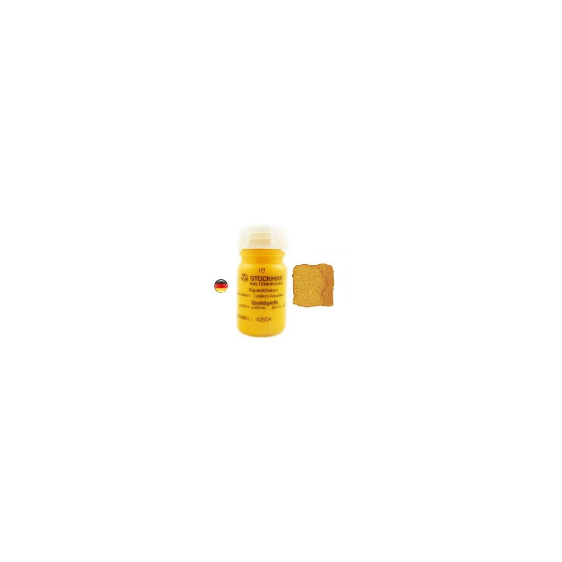 Peinture Aquarelle 50 ml jaune d'or, steiner waldorf Stockmar