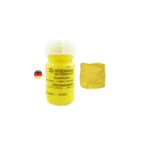 Peinture Aquarelle 50 ml jaune citron, Stockmar