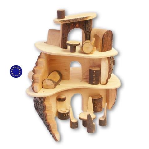 Maison des lutins, cabane en rondin jouet en bois de magic wood