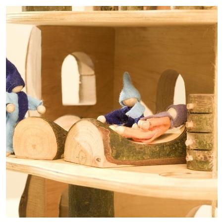 Meubles pour maison des  lutins : la chambre, jouet en bois steiner waldorf de magic wood