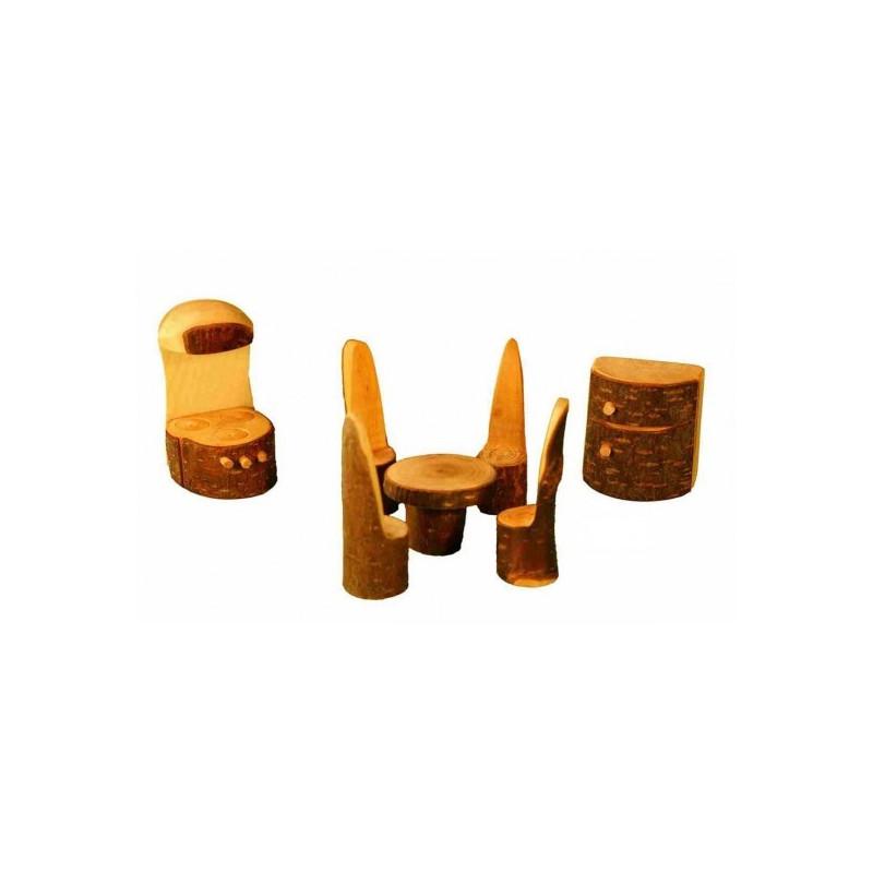Meubles pour maison des  lutins : la cuisine, jouet en bois steiner waldorf de magic wood