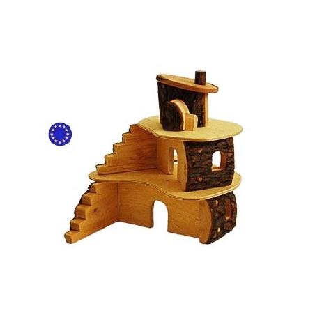 Maison cabane des lutins en bois