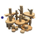 EcoBlocks, blocs rondins de bois,  jeu de construction naturel waldorf steiner de magic wood