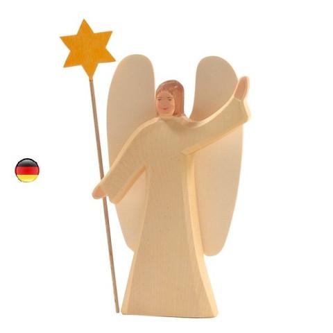 Ange à l'étoile, figurine en bois noel,  waldorf steiner de ostheimer