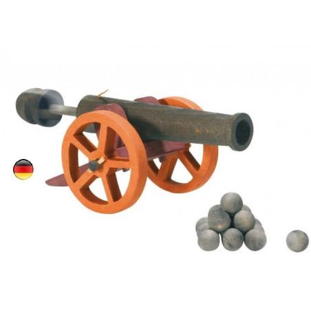 Canon à piston et boulets
