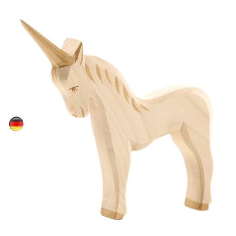 Licorne, animal figurine en bois, jouet waldorf steiner de Ostheimer