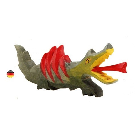 Dragon , figurine en bois