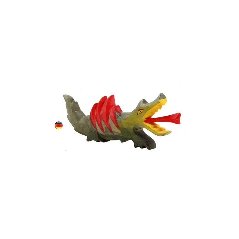 Dragon , animal figurine en bois, jouet steiner waldorf de ostheimer