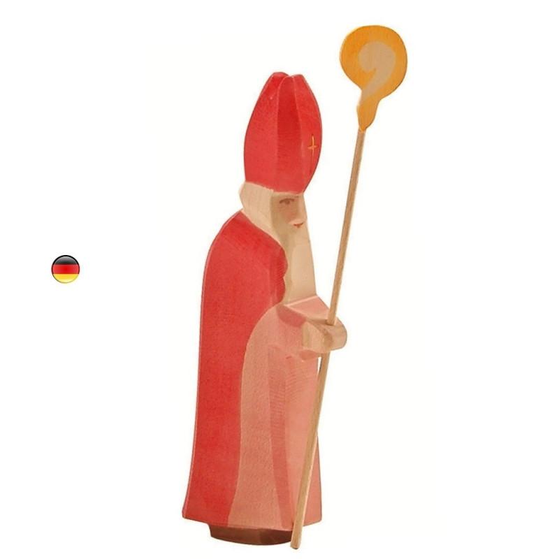 Saint Nicolas, figurine jouet en bois steiner waldorf de Ostheimer