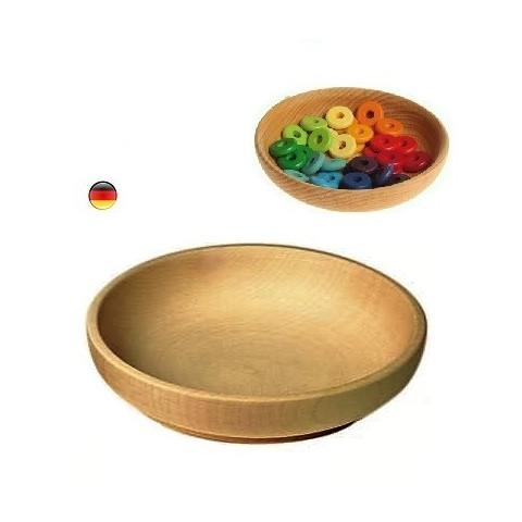 Assiette bol en bois