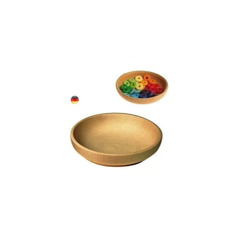 Assiette ou bol en boisn pour dinette ou table saison waldorf steiner de gluckskafer