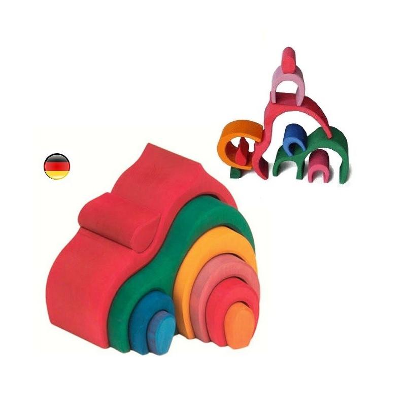 maison gigogne, cabane des lutins, jouet en bois Gluckskafer