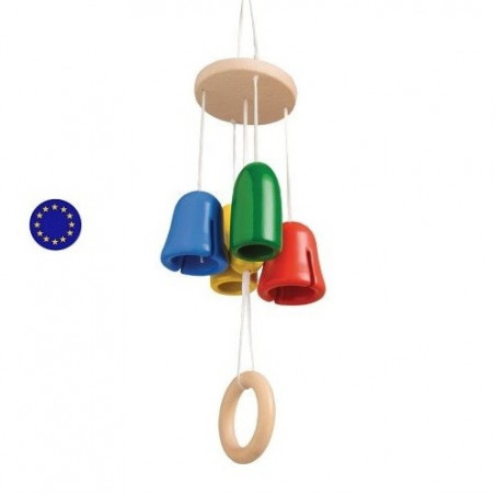 Carillon musical, mobile en bois