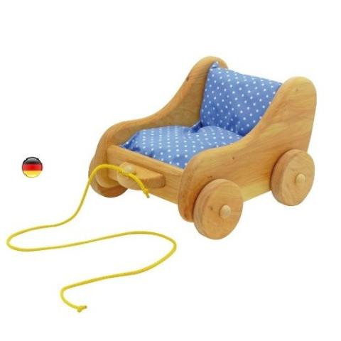 Chariot à tirer pour poupees, jouet en bois glucksakafer nic