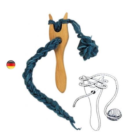 Lucette, fourche à tricoter, tricotin jouet en bois Gluckskafer nic