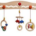 Portique d'éveil, hochets amovible, jouet en bois babytrainer de walter nic