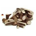 Blocs rondins en bois,  jeu de construction naturel waldorf steiner Gluckskafer nic
