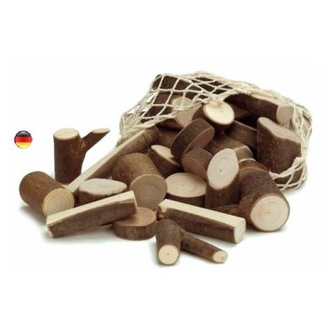 Blocs rondins en bois,  jeu de construction