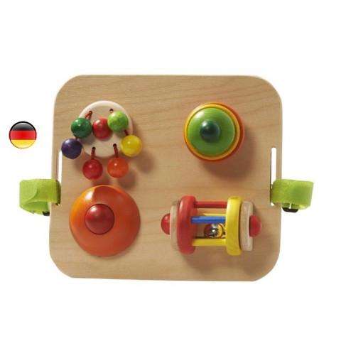 Tableau d'eveil et activités en bois, jouet bébé de Nic Walter