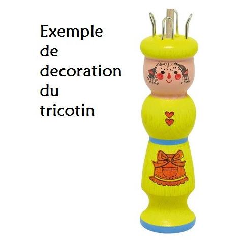 Tricotin bonhomme en bois, materiel créatif de Gluckskafer nic