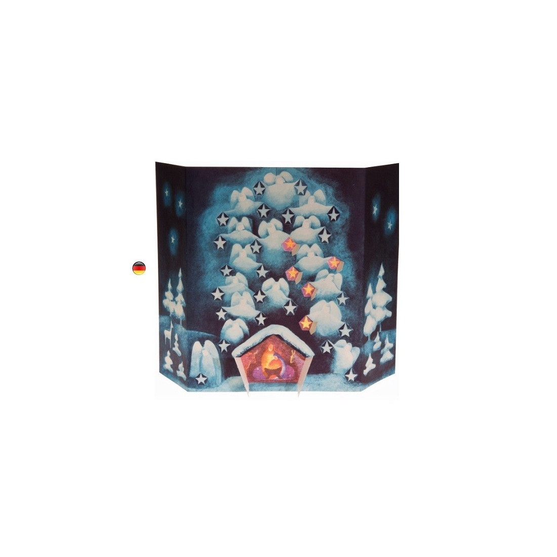 Calendrier de l'avent étoiles et bougies, de Kraul