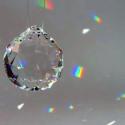 Geode en cristal Swarovski, 20mm à suspendre pour mobile steiner waldorf  sternengasse