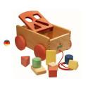Chariot boite à formes en bois Bio, jouet d'eveil de Nic Walter