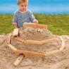 Circuit d'eau ou billes pour le sable, jouet en bois naturel waldorf steiner de Gluckskafer