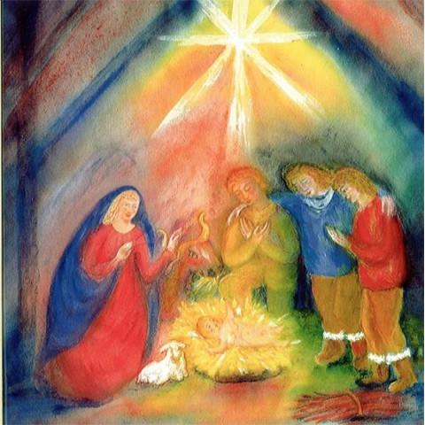 Les bergers de Noël, livre illustré pour enfants, waldorf steiner de Rebecca terniak, la lyre d'alizé