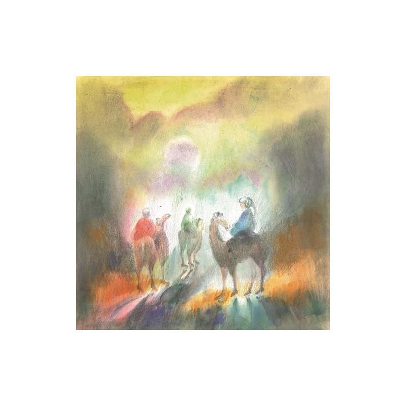 Les rois mages, livre illustré pour enfants, l'épiphanie steiner waldorf de rebacca terniak, lyre d'alizé