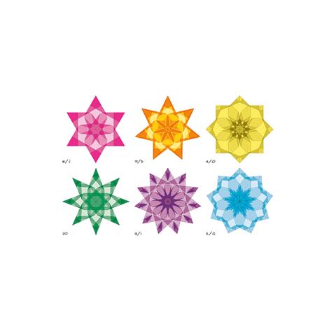 Stars, cahier de pliages géométriques pour etoiles de fenetres en papier vitrail steiner waldorf