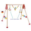 Portique d'éveil et activite arc en ciel avec jouet detachable, jeu en bois, Heimess strasbourg