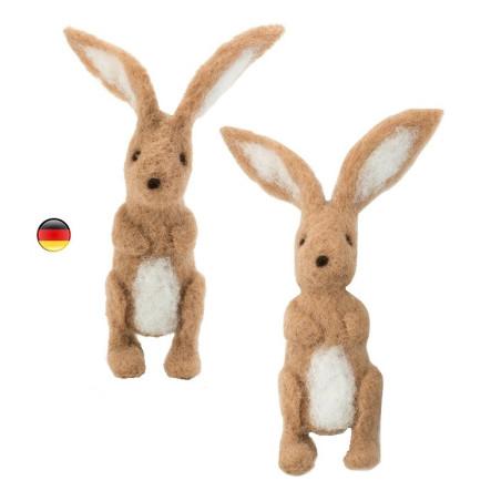 kit créatif : lapins en  laine feutrée bio