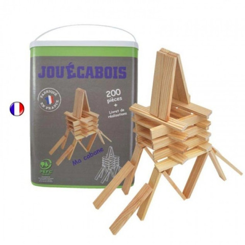 Flockmen jeu d 39 assemblage de figurines en bois for Construction bois kapla