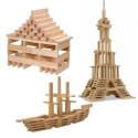 Jouécabois, Planchettes, jeu de construction kapla en bois de France