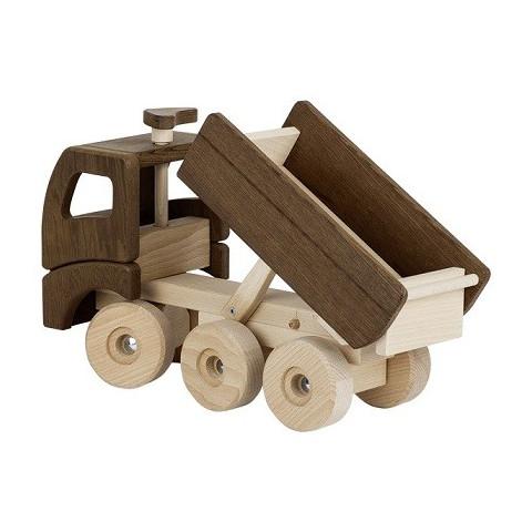 Grand camion benne à bascule, jouet en bois naturel ecologique steiner waldorf de Goki