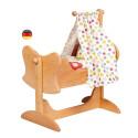 Berceau de poupée, lit à bascule, jouet en bois steiner waldorf Gluckskafer