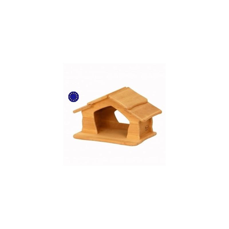 Jolie maisonnette, creche ou étable nature en bois massif de Drewart