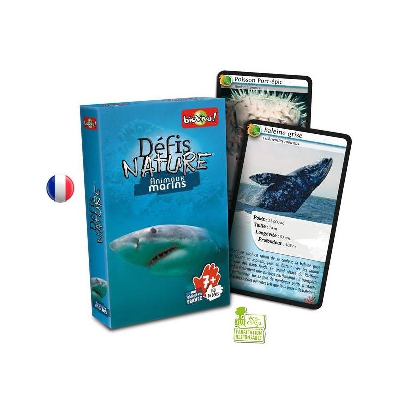 Défis nature animaux Marins, jeu de cartes passionant et instructif de Bioviva france à strasbourg
