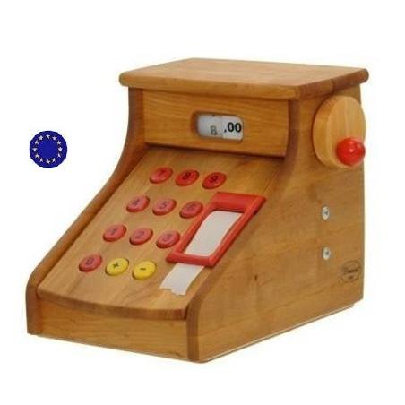 Caisse enregistreuse, jouet en bois