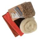 Kit création de doudou Pierlala, long lutin chenille en coton witte engel