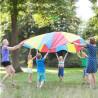 jeu du Parachute, jeu cooperatif pour enfants outdoor et plein air, steiner waldorf et montessori de Buiten speel à strasbourg