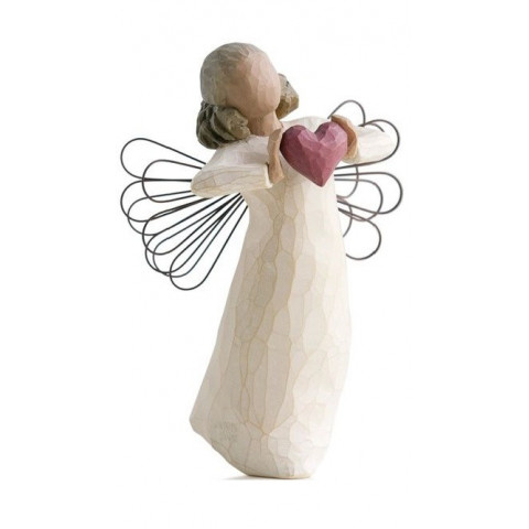 Statuette with love, avec amour, cadeau amour, amitié, tendresse, steiner waldorf de Willow Tree