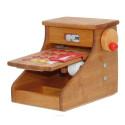 caisse enregisteuse, jouet en bois steiner waldorf de drewart