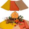 Tissus de laine bio, teinture végétale,3 assortis pour jeu, automne table de saison waldorf steiner, de filges