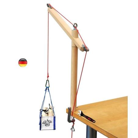 Grue de table, en bois