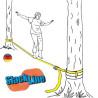 Slackline enfant, jeu d'équilibre et motricité funambule, de corvus à strasbourg
